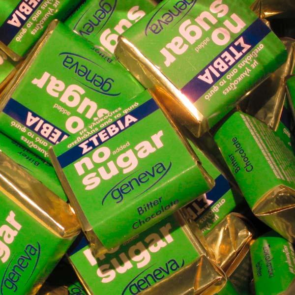 Σοκολατάκια υγείας Geneva με στέβια